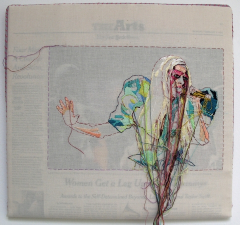 Embroidered Newspaper